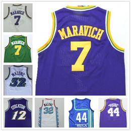 3551a7162a32 ... NBA Utah Jazz 44 Pistol Pete New Rev30 Swingman Maravich Throwback Purple  Jersey Cheap 7 Pete Maravich Jersey Purple Black White 12 John Stockton 32  ...