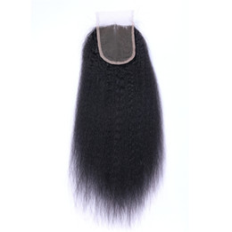 12 x 16 online shopping - Brazilian Kinky Straight Human Hair Lace Closure Middle part Free part Part x Lace Top Closures