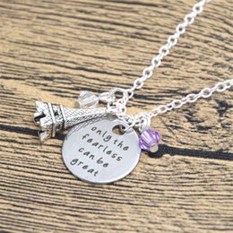 great easter gifts 2019 - 12pcs lot Ratatouille Inspired Necklace Remy the rat in Paris Quote Only the Fearless can be Great crystal cheap great e