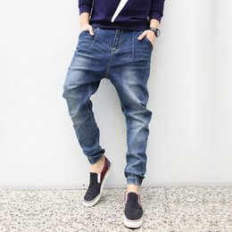 Jeans À Manches Courtes Pour Hommes Pas Cher-Jeans en gros Man-Casual Plus Man Loose Skinny Denim Long Pantalon Pantalon Homme Brand Mode Denim Hip Hip Cross-pantalon Cheap Man Clothing