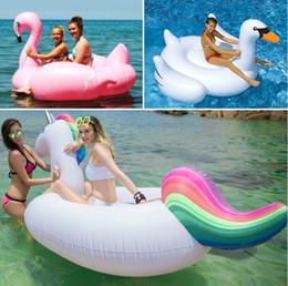 $enCountryForm.capitalKeyWord Canada - NewestHot Inflatable Swan Unicorn Flamingo Floating Bed Raft Air Mattress Summer 190 cm PVC Adults Pool Float Toy Floating Row