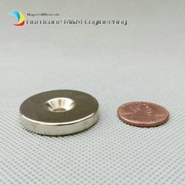Rare Earth Neodymium Magnet Countersunk Hole Australia - 100pcs Countersunk Hole Magnet Diameter 30X5 (+ -0.1)mm Thick M5 Screw Countersunk Hole Neodymium Rare Earth Permanent Magnet
