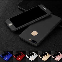 Para o caso do iphone x cobertura de 360 graus de cobertura total do telefone com vidro temperado duro pc case para iphone x 8 plus 7 6 plus se 5s s9 mais moq: 100 pcs venda por atacado
