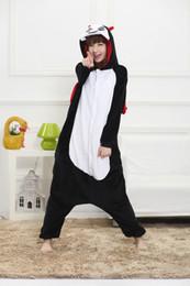 sexy devil woman costume 2019 - Halloween Cosplay Costumes Adult Sleepwear Flannel Pajamas Cosplay Cartoon Devil Animal Winter Pajama Set Women Full Sle