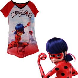 Ladies Christmas T Shirts NZ - 2017 New Popular Children's Miracle Ladybug Cosplay Costume T-shirt Jam Ladybug Costume Lady Ladybug Christmas Costume