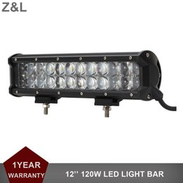 led tractor headlights UK - 12'' 120W Offroad LED Work Light Bar Driving Lamp 12V 24V Car Truck Auto ATV Pickup 4WD 4X4 Tractor Trailer SUV Fog Headlight