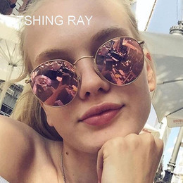 Optical Sunglasses Designer Canada - Small Round Sunglasses Women Men Classic Brand Designer Metal Frame Mirror Sun Glasses Vintage Female Optical Eyewear