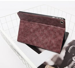 Ipad red leather skIn online shopping - Fashion Luxury Weave Pattern Stand Flip Case for Ipad Pro Ipad Air Ultra Thin Smart Cover Case for Ipad Mini