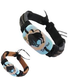 $enCountryForm.capitalKeyWord NZ - adjustable black brown genuine leather bracelet wholesale lots surfer Taurus chain hot charm unisex handmade wristband bangle (DJ367)