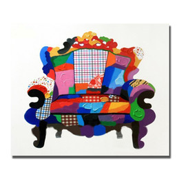 Free Shipping Canvas Oil Painting In High Quality Cartoon Chair Wall Pictures Abstract Kids Set