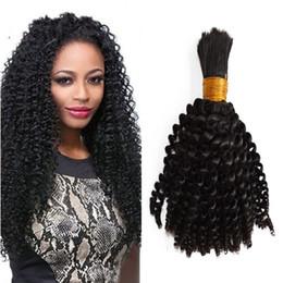 Brazilian Kinky Curly Braiding Hair UK - Brazilian Bulk Human Hair for Braiding 1 Bundles Kinky Curly Unprocessed Human Hair Bundles No Weft 10-26 inch FDSHINE