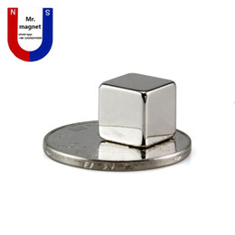 sales block UK - 100pcs Hot sale 10*10*10 10x10x10 10*10*10mm 10x10x10mm strong rare earth neodymium magnet NdFeB small cube permanent magnet free shipping