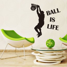 living sports Canada - ball is life Basketball wall stickers personality creative living room bedroom background decoration waterproof wall stickers
