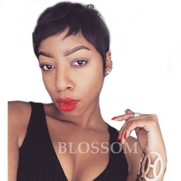 $enCountryForm.capitalKeyWord Canada - Hot Charming short bob cut wigs with baby hair glueless virgin brazilian short full lace human wigs hair bob for black women