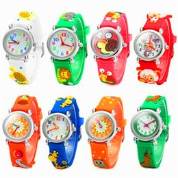 Wholesale 3D Cartoon Children Watch Kids Students Cute Design Silicone Quartz Analog Wristwatches Teacher Little Girl Boy Gift Watches