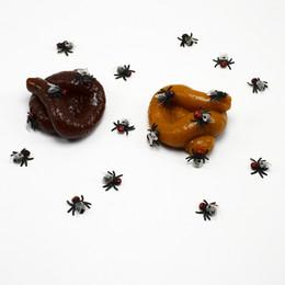 $enCountryForm.capitalKeyWord UK - 200pcs lot Realistic Sticky Mischief Turd Gag Shits Poop Fake Feces Turd Classic Shit halloween toys Practical Gag Funny Joke Gadget Toy