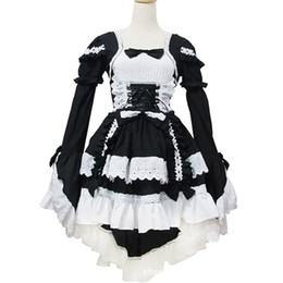 free size lolita dresses UK - Malidaike Anime Leegoal Sexy Japan Cosplay Lolita Maid Halloween Fancy Dress Sweet Lovely Style One Size