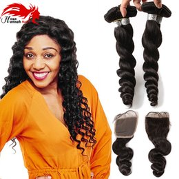 7a peruvian loose wave closure online shopping - Peruvian Virgin Hair Loose Wave With Closure A Peruvian Human Hair Bundles With Closure Lace Closure With Bundles