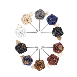 China wedding shop online shopping - Free shopping High end hand made collar collar flower rose suit suit chest brooch Korean men and women flowers hand brooch