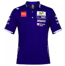 2017 nuevos hombres de la moda de ocio deportes golf motocicleta POLO camiseta de algodón para yamaha M1 Valentino Rossi VR46 MOTOGP camiseta