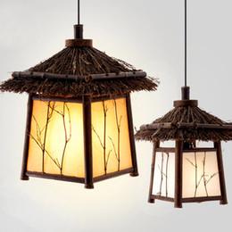 Bamboo Garden Chinese Restaurant corridor pendant light retro Japanese teahouse clubhouse balcony pendant l& & Discount Bamboo Restaurant Lighting | 2018 Bamboo Restaurant ... azcodes.com