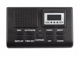 Toptan satış Mini Dijital Telefon Ses Kaydedici Telefon Görüşmesi LCD Ekran Saat Fonksiyonu Ile Destek SD Kart Kulaklıklar Telefon Logger