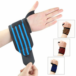 wristbands for gym NZ - Wrist Wraps With Thumb Loops Gym Sports Wristband Wraps Bandage for Powerlifting Gym Sports Wristband Unisex Free Size