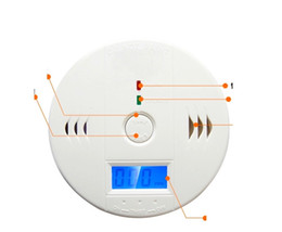 Smoke Carbon Detectors Canada - 10pc Wireless Battery-operated gas alarm security system Alert Smoke Carbon Monoxide CO Detectors Gas Alarm 10A