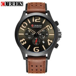 wristwatch curren Australia - CURREN 8244 New Brand Luxury Sports Chronograph Quartz Men Watches Fashion Casual Wristwatches For Leather Relogio Masculino
