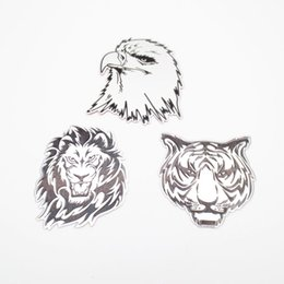 Autocollant En Aigle Métallique Pas Cher-Cool 3D Métal Voiture Animaux Autocollants Logo Lion / Eagle / Tiger Emblème Badge Sticker Pour BMW AUDI VW Ford Honda Autocollants