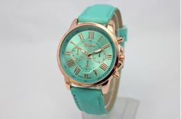 $enCountryForm.capitalKeyWord Australia - Wholesale Fashion Unisex mens women Geneva Roman Numerals Faux Leather Analog Quartz Wrist Watches for women men wrist watch dress watches