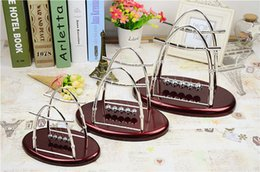 Alloy bAlAnce online shopping - Newtons Cradle Steel Balance Ball Home Furnishing Decoration Sail Swing The Balls Arts And Crafts Hot Sale jl J