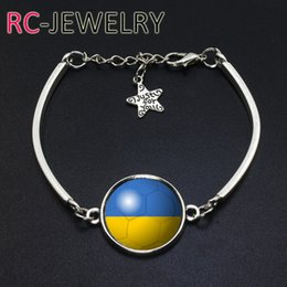 Cup Chain Settings Australia - Europe and the United States style Ukraine flag bracelet World Cup bracelet quick sell through the explosion section