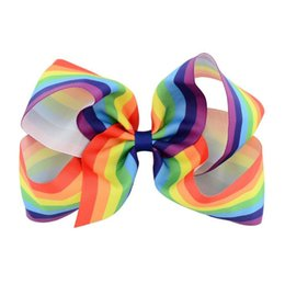 Infant Hair Styles UK - Baby Girls hair pins colorful Ribbon Bow Kids Hairpin Clips Boutique Bows Europe style Children Hair Accessories Infant Barrette