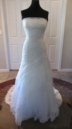Images Floral Wedding Dresses NZ - Actual Image Customer Order Strapless Beaded Floral Lace Appliques Ruched Pleating Bridal Wedding Dress Gown COR-125 Robe De Mariage