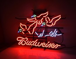 cold light beer Canada - New HIGH LIFE Neon Beer Sign Bar Sign Real Glass Neon Light Beer SignME 713 bud goose 18x14'' red 003