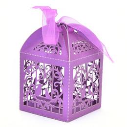 $enCountryForm.capitalKeyWord UK - Wholesale- 50pcs pack Cartoon Bird Love Heart Laser Cut Gift Candy Boxes Wedding Party Favor With Ribbon