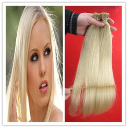 "$enCountryForm.capitalKeyWord NZ - 613 Bleach Blonde Brazilian hair 100g pc 10"" 12"" 14"" 16"" 18"" 20"" 22"" 24"" 26"" 1g Stick I Tip Human REMY Hair Extensions"