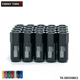 tuner rims 2020 - TANSKY -20pc M14X1.5 60MM Extende Forged Aluminum Tuner Racing Lug Nut For Wheels Rims TK-DD550B15