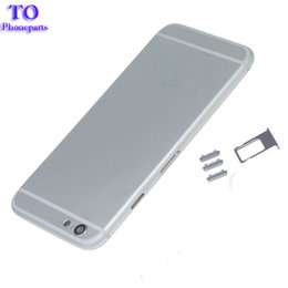$enCountryForm.capitalKeyWord Australia - 30pcs Back Battery Cover Rear Door Housing Case Middle Chassis Body Replacement For Apple iPhone 6 Back Housing