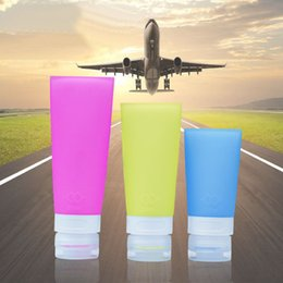 Chinese Perfume Wholesalers Canada - 38 60 80ml Silicone Refillable Bottles Portable small sample containers Mini Traveler perfume bottles for Shampoo Bath