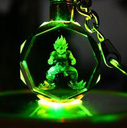 $enCountryForm.capitalKeyWord NZ - Dragonball crystal key chain manufacturers selling 】 【 super monkey vegeta luminous hands to figure