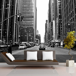 backdrop city NZ - Mural 3D New York city night scene large murals Mediterranean TV backdrop sofa bedroom background wall mural wallpaper