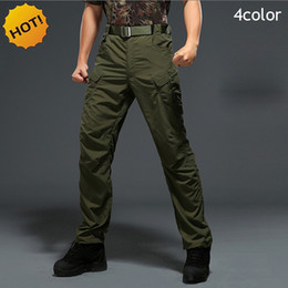 Pantalons Hommes Camouflage Militaire Pas Cher-2017 Randonnée extérieure Escalade Printemps Automne Tactique Cargo Army Jungle Pantalons Mens Rapide Camouflage Camo Straight Zipper Pantalon de poche Hommes