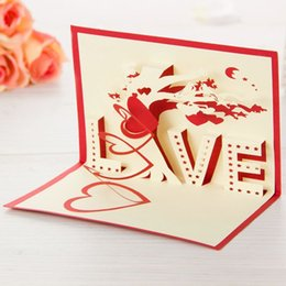 discount anniversary greeting cards 10 pieces lot3 d percept love tree - Discount Greeting Cards