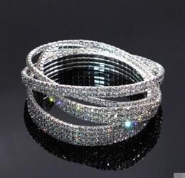 Discount rhodium plated cz - Crystal Rhinestone STRETCH CZ Tennis Ankle Chain ANKLET Bracelet SEXY Women Summer Beach Sand Jewelry 1-4 Rows 30 pcs fr
