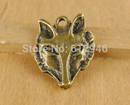 $enCountryForm.capitalKeyWord NZ - Free Shipping! 20 pcs Antique Bronze Wolf Head Charm Pendants Metal Bracelet Necklace Jewelry Findings A545