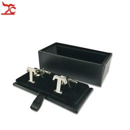 Discount cufflink packaging - Big Sell 20Pcs Leatherette Cufflinks Holder Case Mens Black Cufflinks Carrage Storage Package Gift Box 8x4x3cm