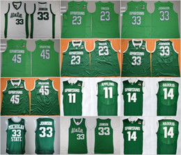 68cab588 ... green jersey; michigan state spartans college basketball jersey 33  earvin magic johnson 45 denzel valentine nba 2017 18