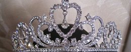 Crown Beautiful Bride Canada - Authentic super flash Europe type restoring ancient ways tire crown princess bride beautiful Korean wedding jewelry